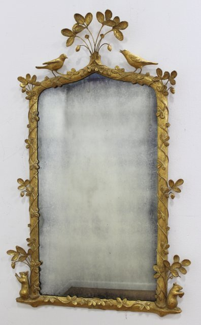 Carved Giltwood & Composition Mirror