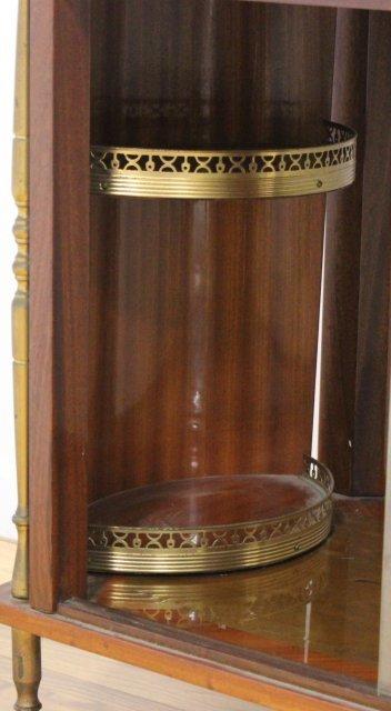 Spanish Floral Inlaid Satinwood & Walnut Teacart - 9