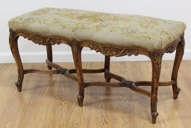 :Louis XV Style 6 Legged Bench