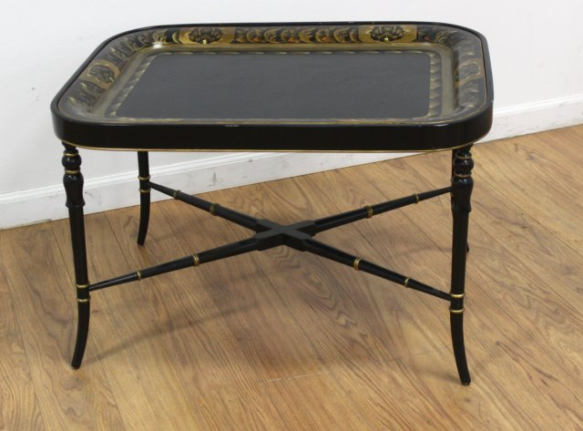 :19th Century English Tray Top Coffee Table
