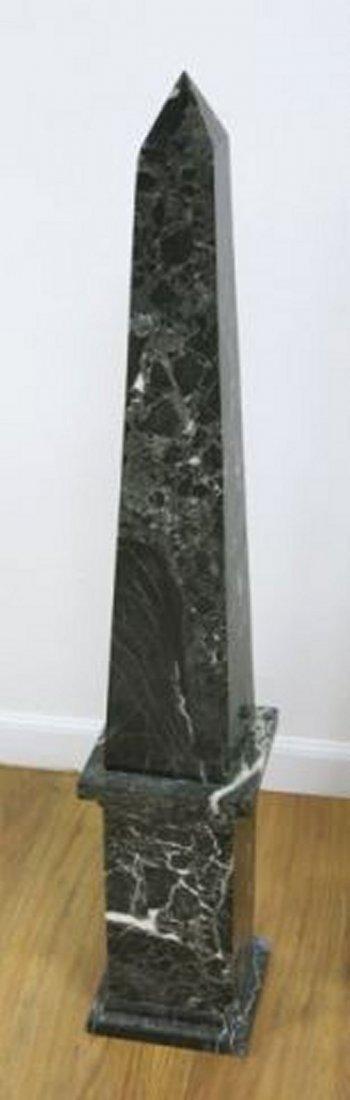 :Pair Black Marble Obelisks - 2