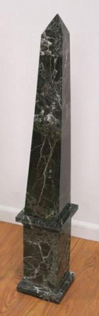 :Pair Black Marble Obelisks - 3