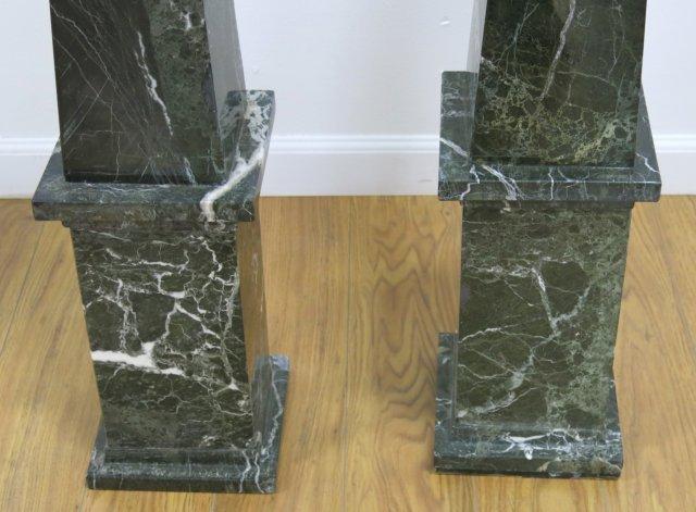:Pair Black Marble Obelisks - 4