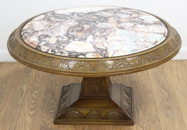 :Round Marble Coffee Table