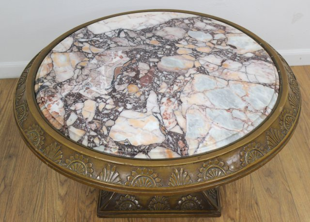 :Round Marble Coffee Table - 2