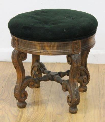 :Pair Louis XIV Style Beechwood Tabourets - 2