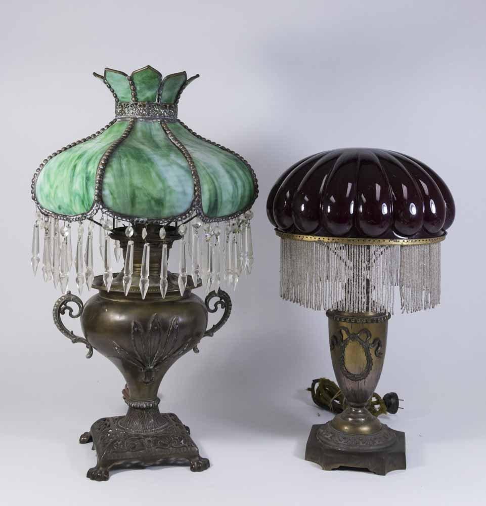 2 Victorian Metal Lamps