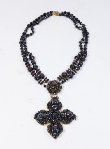 :Miriam Haskell Cross Necklace