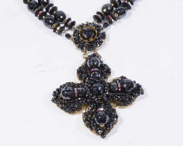 :Miriam Haskell Cross Necklace - 2