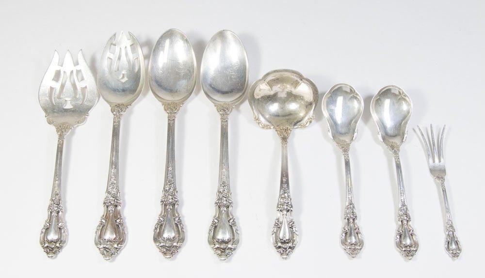 8 Lunt Sterling Silver Serving Utensils