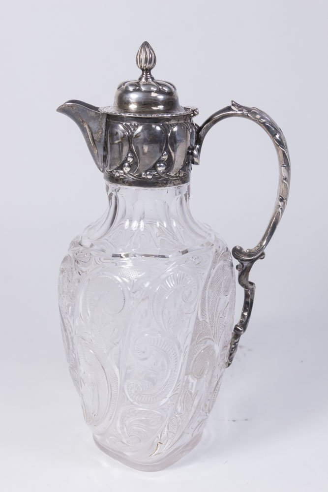 Sterling Silver Mounted Glass Decanter