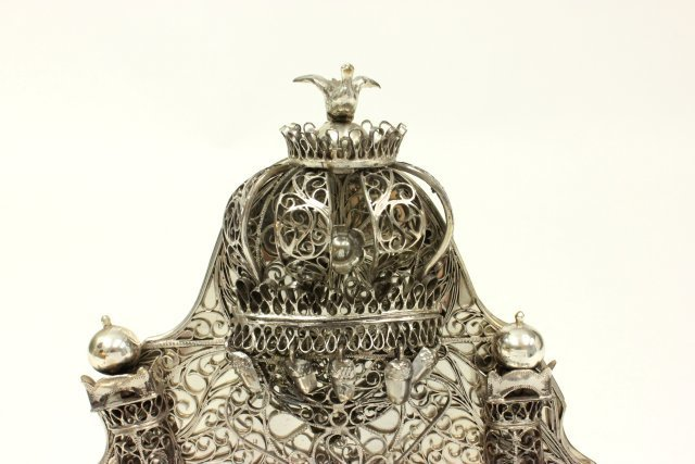 Judaica Hallmarked Silver Chanukah Lamp - 2