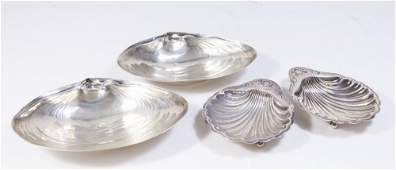 2 Pairs Sterling Silver Shell Form Small Dishes