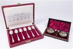 Cased Set of 6 English Sterling Silver Spoons