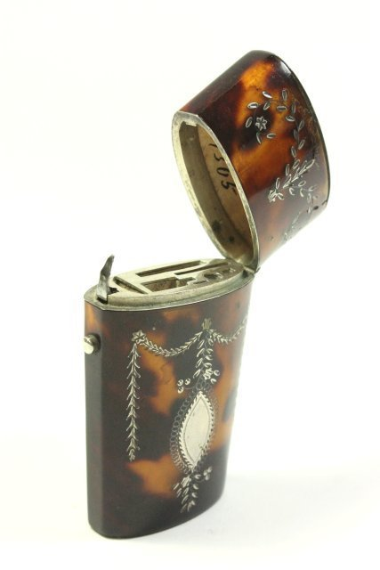 Continental Silver Mounted Etui - 2