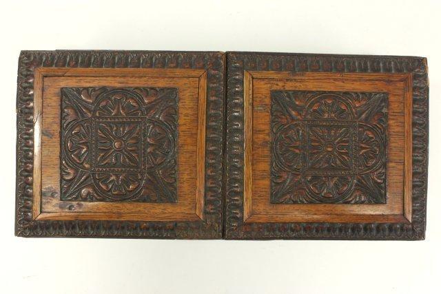 Carved Oak Humidor Box & Matching Tantalus - 10