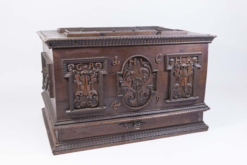 Baroque Walnut Document Box