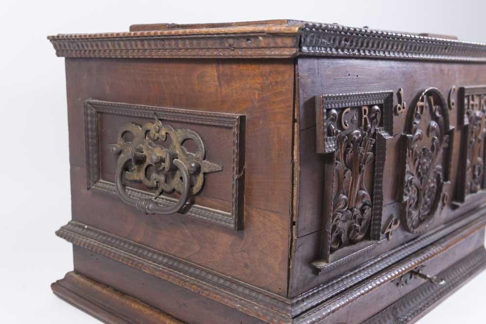 Baroque Walnut Document Box - 4