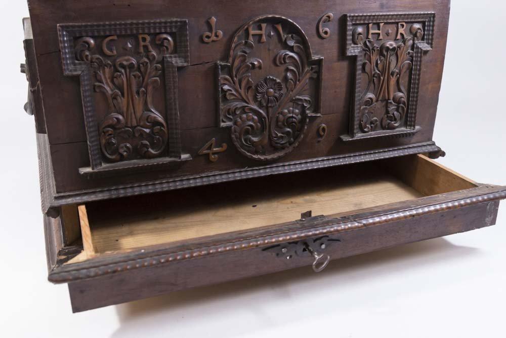 Baroque Walnut Document Box - 7