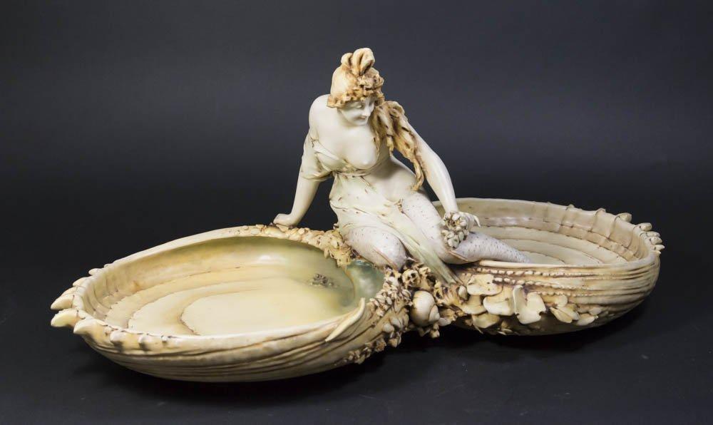Teplitz Art Nouveau Mermaid Figure
