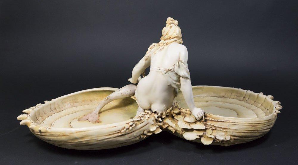 Teplitz Art Nouveau Mermaid Figure - 6