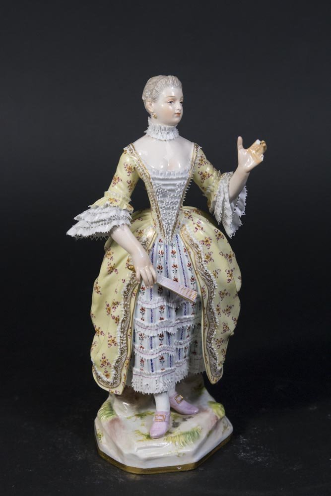 19th Century Meissen Figure of Young Lady