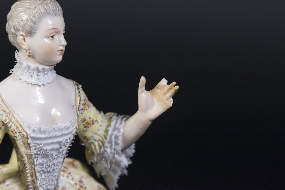 19th Century Meissen Figure of Young Lady - 3