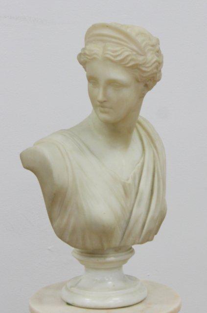 Marble Bust of Venus on Marble Pedestal - 2