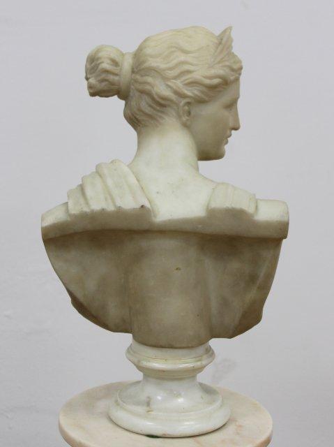 Marble Bust of Venus on Marble Pedestal - 4