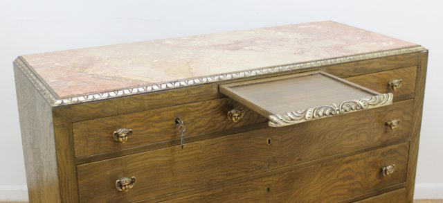 Rococo Style Parcel-Silvered Elm Dresser - 2