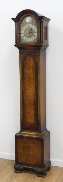 English Tall Case Walnut Clock