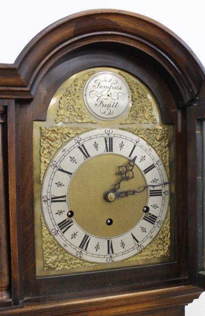 English Tall Case Walnut Clock - 3