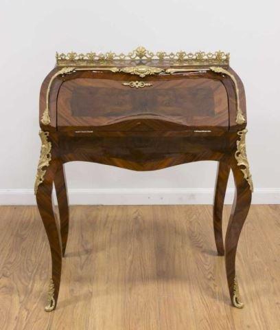 :Louis XV Style Tulipwood Petit Bureau