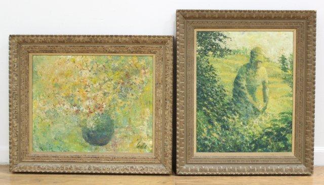 John India, 2 Oils on Canvas