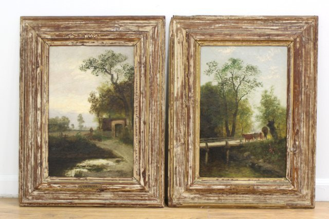 Theodore Paier, Pair Rural Landscapes