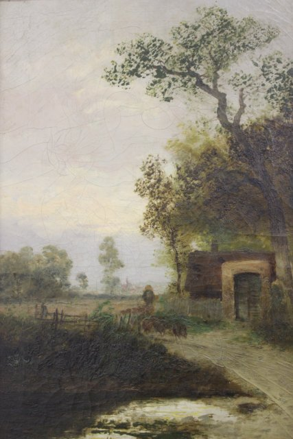 Theodore Paier, Pair Rural Landscapes - 7