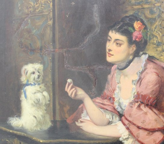 E.C. Barnes, Woman with Terrier - 3