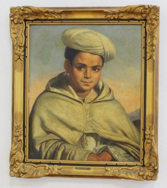 Gilt Framed Painting, Boy with Turban