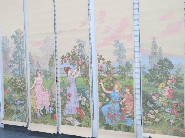 :39 Zubair Style Art Nouveau Wall Paper Panels