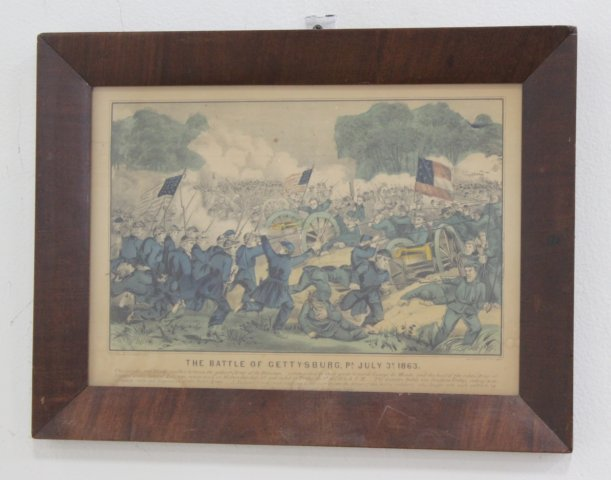 """Currier & Ives, """"The Battle of Gettysburg"""""""