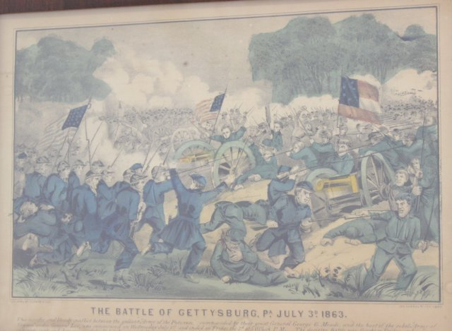 """Currier & Ives, """"The Battle of Gettysburg"""" - 2"""