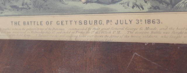 """Currier & Ives, """"The Battle of Gettysburg"""" - 3"""