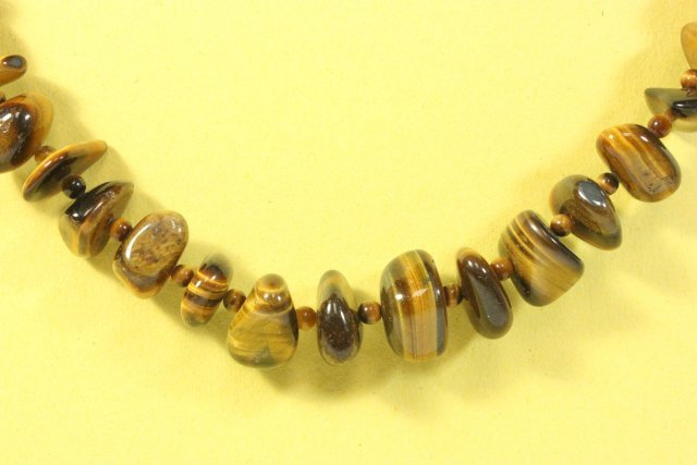 Amber Necklace & Tiger's Eye Necklace - 3