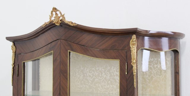 French Style Bronze Mounted 2-Door China Cabinet - 3