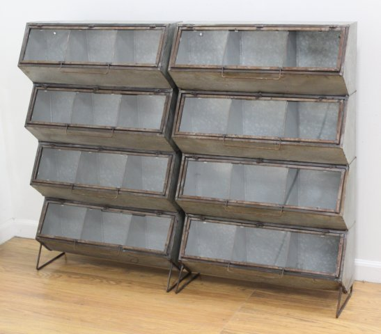 2 Industrial Metal Bins
