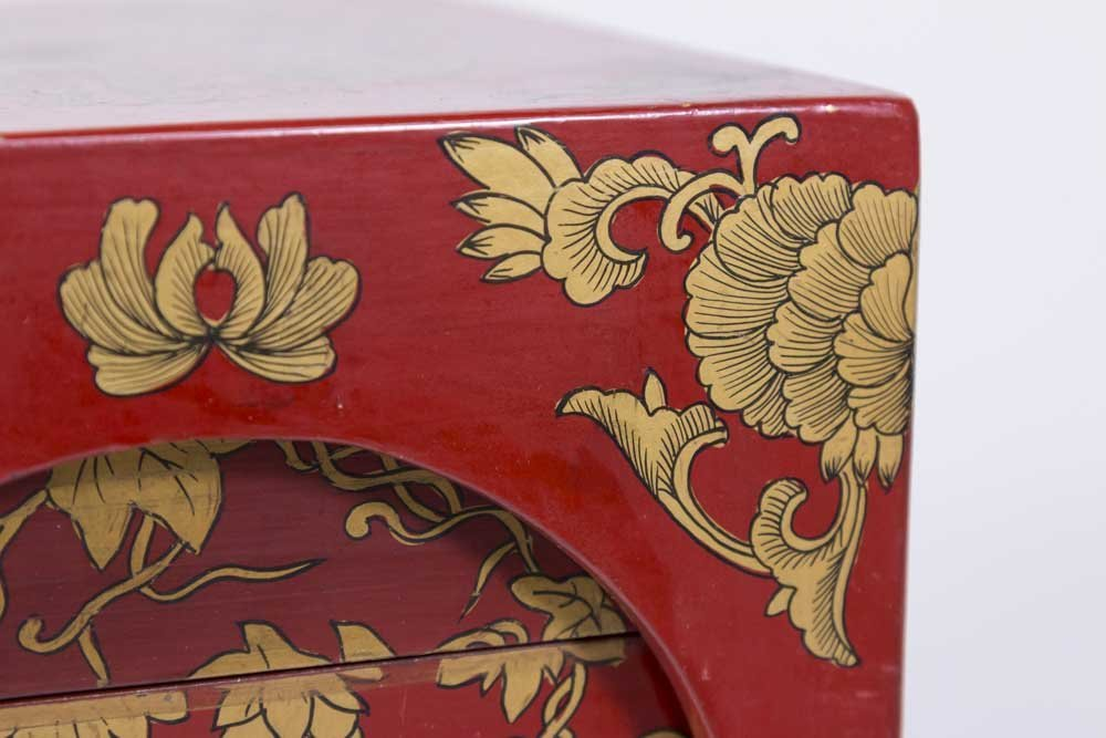 Chinese Red Lacquer Storage Rack - 4