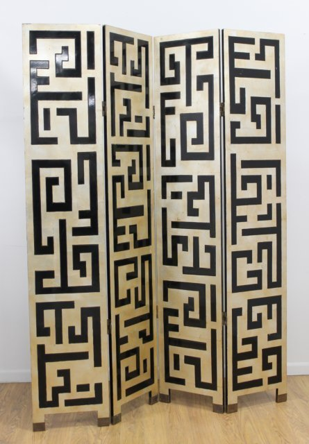 Modern Grecian Key Design Screen