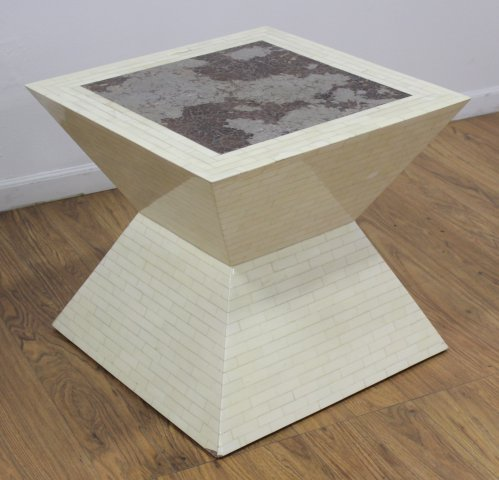 :Enrique Garcel Tessellated Bone Coffee Table
