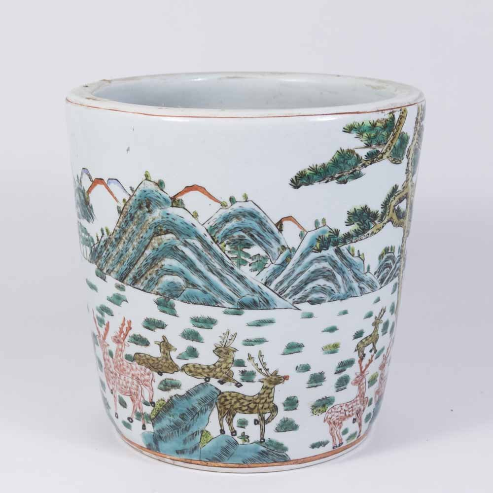 Chinese White Ground Porcelain Jardiniere