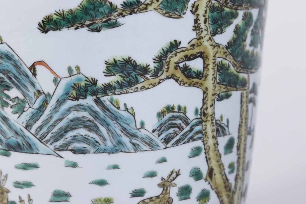 Chinese White Ground Porcelain Jardiniere - 3